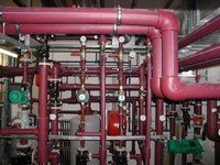 Chilled water and compressed air piping
