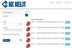 Contra Flex expansion vessels product prtal